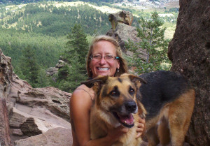 me and jax at the flatirons in boulder, co